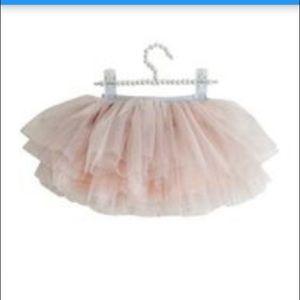 Olivia Rose Tiered Tutu Pink Glitter 3-6 M